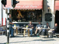 Pavement cafe in Haarlem, Holland.