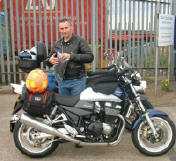 John S with his GSX1400 at Newcastle.